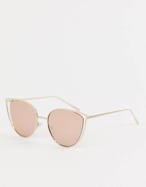 ASOS DESIGN suspended metal kitten sunglasses
