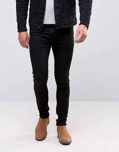 ASOS DESIGN svarta super skinny jeans
