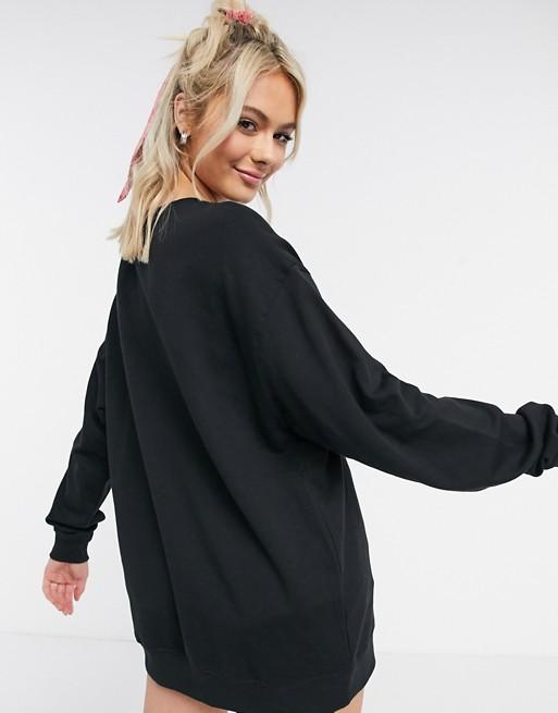 ASOS DESIGN - Sweat-shirtoversize en coton biologique - Noir Hoodies et sweat-shirts femme