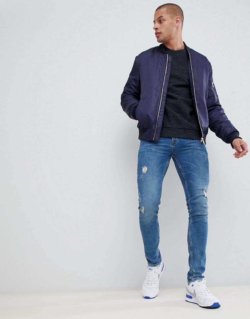 Asos Design – Sweatshirt In Anthrazit Meliert by Asos