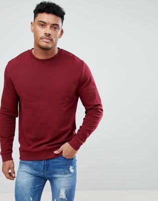 ASOS DESIGN sweatshirt in burgundy