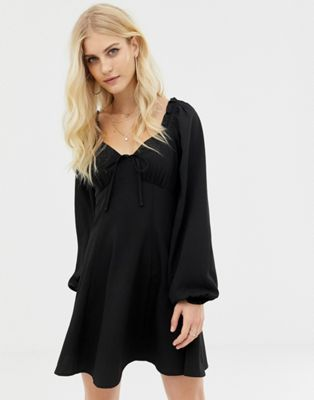 Image 1 of ASOS DESIGN sweetheart babydoll mini swing dress