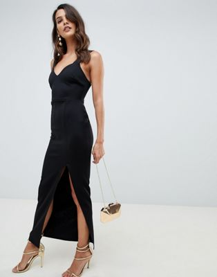 ASOS DESIGN Sweetheart Maxi Dress with Thigh Split