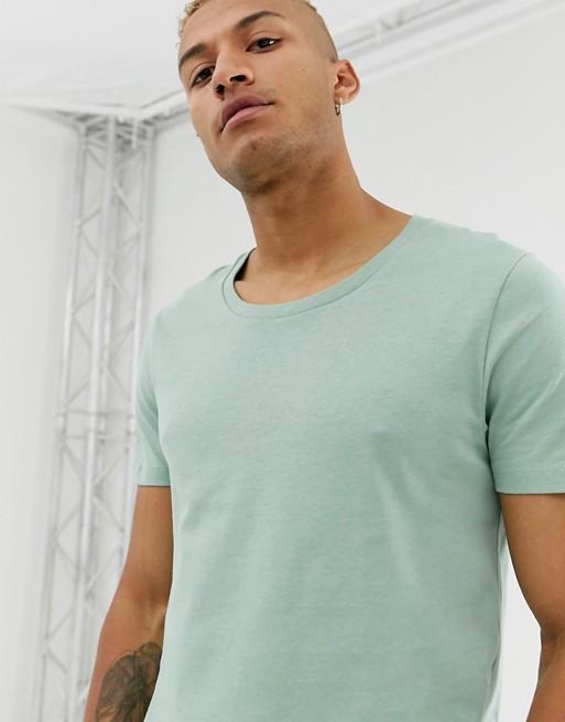 Dégagée Asos Encolure À shirt DesignT Vert eCodrxBW