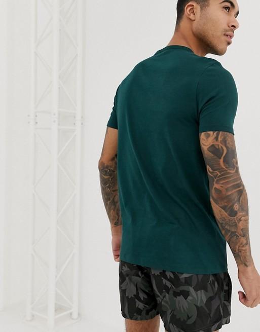 DesignT À Bio Manches Asos Col Grand Courtes père Vert En shirt Et Coton Ivb6mYf7yg