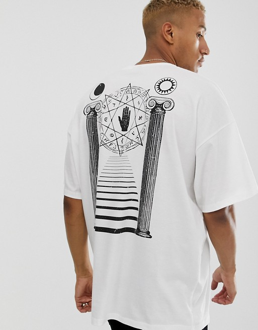DesignT Imprimé shirt Oversize Dans Dos Asos Long Historique Avec Grand Le 8nkOP0wX