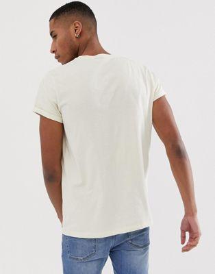 Design shirt Cou T À Avec Revers Ras Beige De Asos Manches SEdqwS