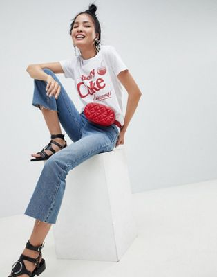 ASOS DESIGN T-Shirt With Cherry Coke Print