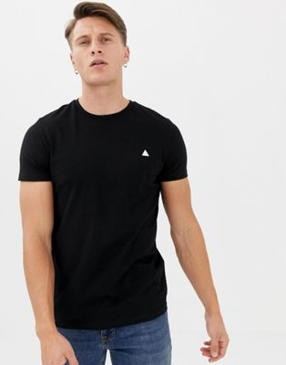 Image 1 of ASOS DESIGN T-Shirt with crew neck and logo in black