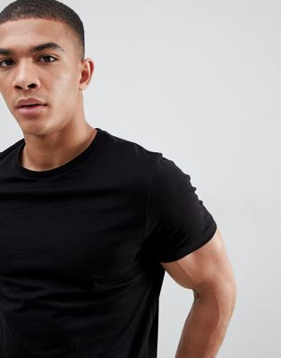 ASOS DESIGN t-shirt with crew neck in black