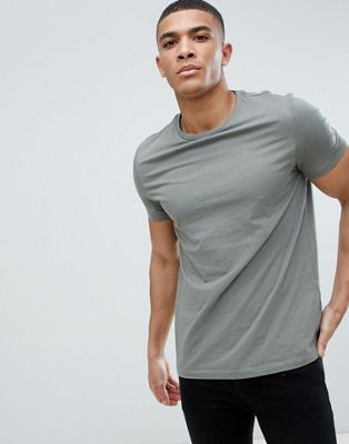 ASOS DESIGN t-shirt with crew neck in gray