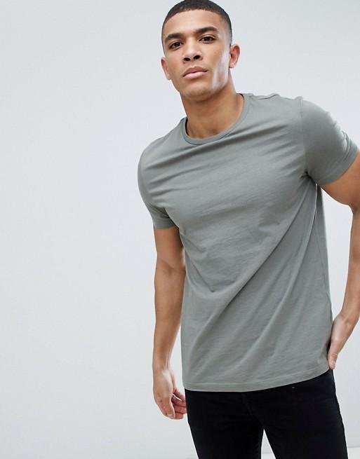 ASOS DESIGN t-shirt with crew neck in grey