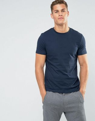 ASOS DESIGN t-shirt with crew neck in navy