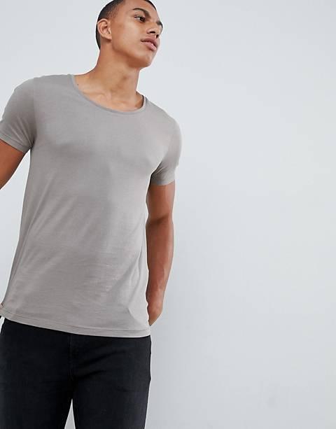 ASOS DESIGN t-shirt with scoop neck in beige