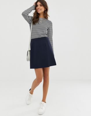 Image 1 of ASOS DESIGN tailored a-line mini skirt