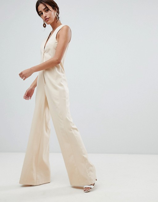 a6b2a8f8b5b ASOS DESIGN Tailored Jumpsuit with Wide Leg