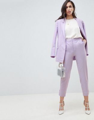 ASOS DESIGN tailored lilac occasion trouser