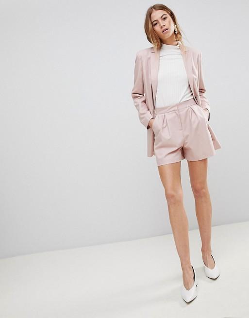 Image 1 of ASOS DESIGN tailored mini jacquard short