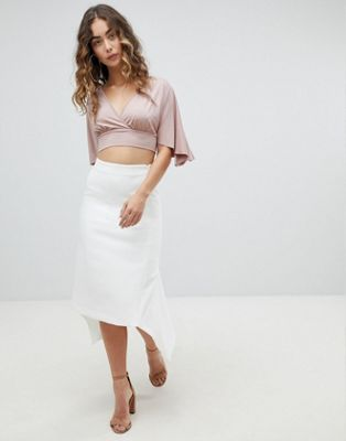 Image 1 of ASOS DESIGN tailored occasion fishtail midi skirt