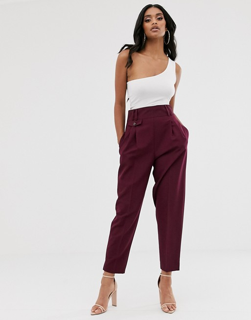ASOS DESIGN tailored smart high waist balloon pants