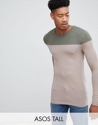 ASOS DESIGN - Tall - Beige tröja med kontrast