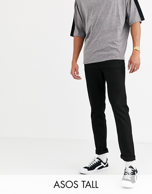 ASOS DESIGN Tall carrot fit jeans in black
