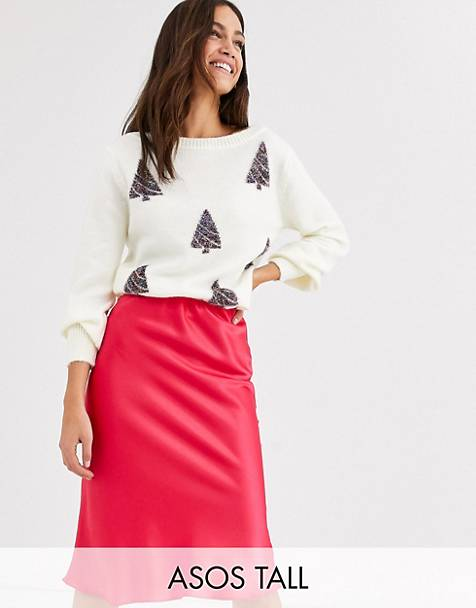 ASOS DESIGN Tall charity christmas tree sweater for ASOS foundation