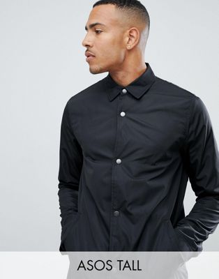 ASOS DESIGN Tall coach jacket in black