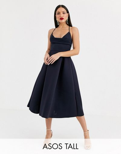 ASOS DESIGN Tall cowl neck cami midi prom dress