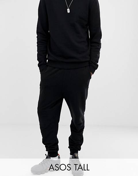 ASOS DESIGN Tall drop crotch sweatpants in black