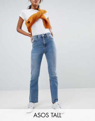 ASOS DESIGN Tall Egerton rigid cropped flare jeans in vintage mid wash