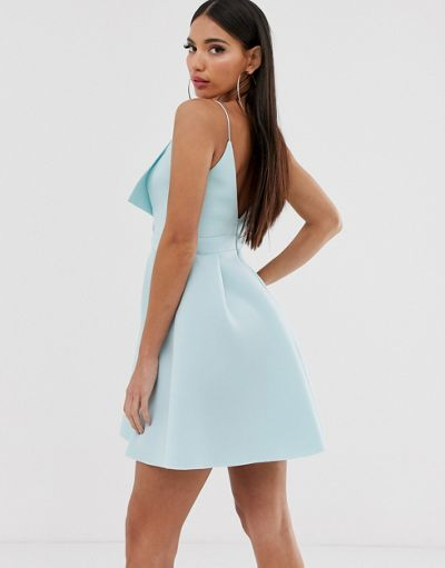 ASOS DESIGN Tall fold front skater mini dress
