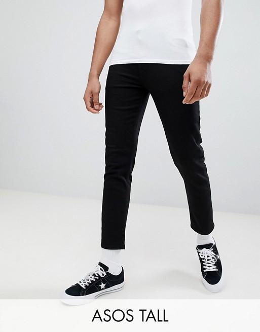 ASOS DESIGN Tall - Jean skinny super court - Noir
