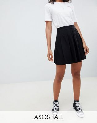 ASOS DESIGN Tall mini skirt with box pleats