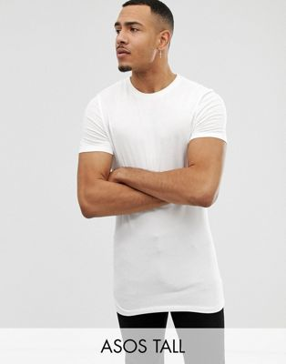 ASOS DESIGN Tall muscle fit crew neck t-shirt in white