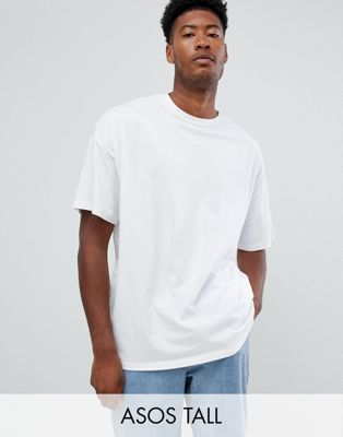 Image 1 of ASOS DESIGN Tall organic oversized fit t-shirt with crew neck in white