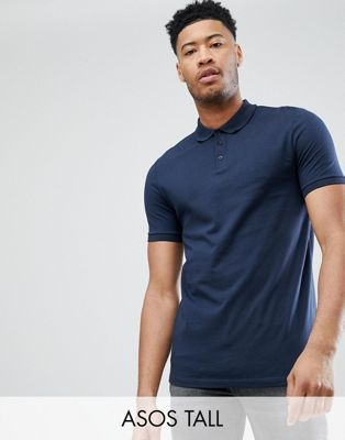 ASOS DESIGN Tall polo shirt in navy