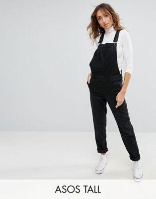 ASOS DESIGN Tall - Salopette en jean - Noir délavé