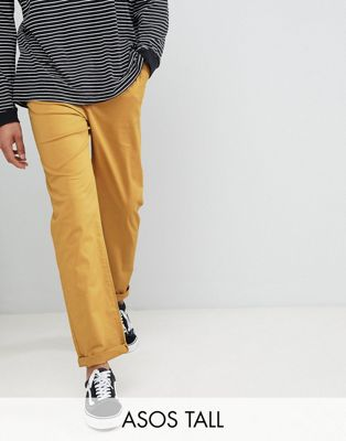 ASOS DESIGN Tall Skater Chinos In Mustard
