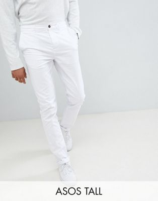 ASOS DESIGN Tall Skinny Chinos In White