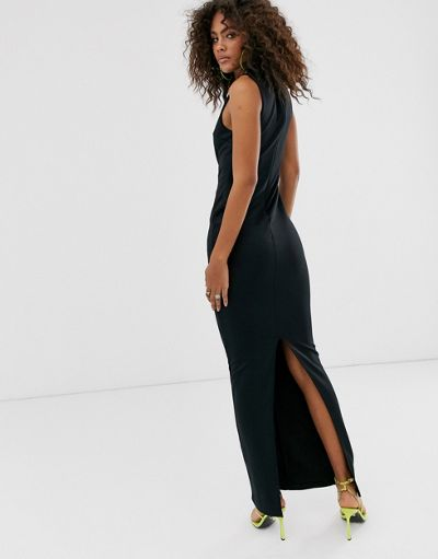 ASOS DESIGN Tall slash front maxi dress