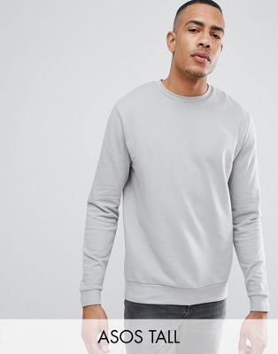 ASOS DESIGN Tall Sweatshirt In Light Grey