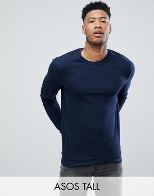 ASOS DESIGN tall sweatshirt in navy