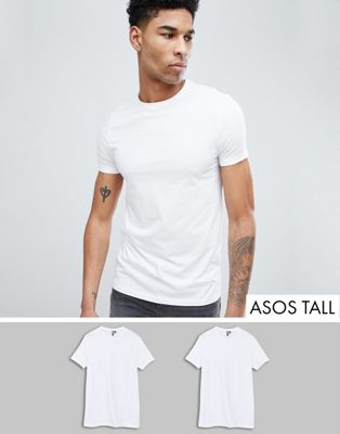 ASOS DESIGN Tall t-shirt with crew neck 2 pack SAVE