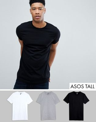 ASOS DESIGN Tall T-Shirt With Crew Neck 3 Pack Save