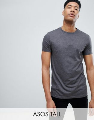 ASOS DESIGN Tall t-shirt with crew neck in charcoal