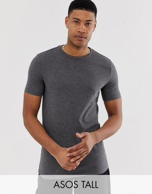 ASOS DESIGN Tall t-shirt with crew neck in grey