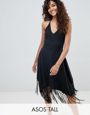Image 1 of ASOS DESIGN Tall tassel hem hanky sundress