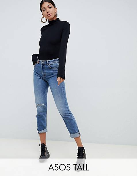 ASOS DESIGN Tall turtleneck long sleeve top in black
