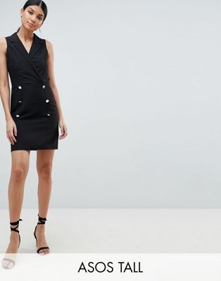 ASOS DESIGN Tall Ultimate Sleeveless Mini Tux Dress